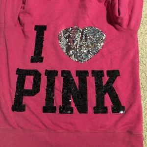 blinged out PINK hoodie